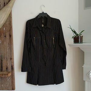 Rocawear black pinstripe shirt dress XL Juniors